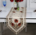 1Pc Beautiful Pastoral Polyester Embroidered Floral Cutwork Elegant Table Cloth