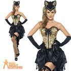 Adult Burlesque Kitty Costume Can Can Moulin Rouge Womens Fancy Dress UK 8 - 18