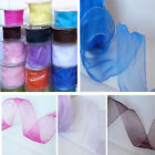 ELEGANZA ORGANZA CHIFFON WIRED RIBBON WEDDINGS FLORISTRY  CRAFTS 5060161223873