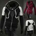 ~Rich Young~ Mens Slim Fit Cool Double Zipper Hoodies Jackets Coat Baseball Suit