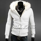 NEW!! HOT FOR MENS WINTER UNIQUE FUR HOODIES OUTERWEAR BOY COATS JACKET SUIT TOP