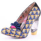 Irregular Choice Tea Leaf Womens Black Multicolour Heels New Shoes All Sizes