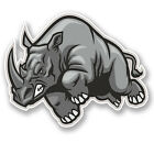 2 x Angry Rhinosaurus Vinyl Sticker Decal iPad Laptop Helmet Car Rhino #4752/SV