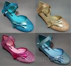 New Girls Kids Birthday Party Shoes Frozen Elsa Princess Cosplay Shoes UK9-13 1
