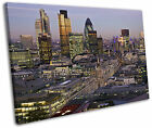 London City Gherkin Skyline Framed Canvas Wall Art Picture Print