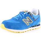 New Balance Speckled Print 574 Kids Synthetic & Mesh Blue Trainers New Shoes