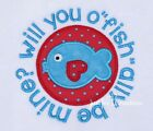 "Boy Infant Toddler Valentines Day Fish ""willyou o""fish""ally be mine? LS Shirt"