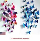 Home Garden - 24 Pcs(2 Sets) 3D Butterfly Wall Stickers & Magnetic Decals Home Room Decor
