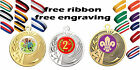 20x 50mm Metal Medal. Free Engraving Free Ribbon Free UK Postage Kids Party