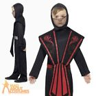 Child Ninja Costume Boys Black Martial Arts Warrior Kids Fancy Dress Outfit