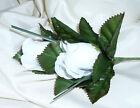 WEDDING FLOWERS DOUBLE ROSE BUTTONHOLE SIUTABLE FOR GENT MANY COLOURS