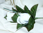WEDDING FLOWERS DOUBLE ROSE BUTTONHOLE SUITABLE FOR GENT MANY COLOURS