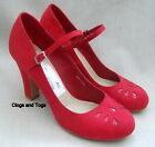 NEW CLARKS BLUSH RED SUEDE SHOES SIZE 7 / 41