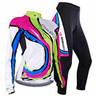 Women's Cycling Uniforms Jersey Long Sleeve Bicycle Wear 3D Padded Pant Clothes
