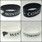 game of thrones wristband winter is coming stark logo black or white