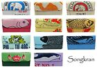 Songkran Recycled - Womens Modern Trifold Wallet - Colorful Fair Trade Cambodia