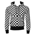 Blue Banana Hoodies Essential Black And White Chess Board Hoodie Checker Top