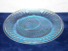 Mayfair Round Plate with Off-Center Indent Blue