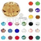 5040 100pcs Rondelle Crystal Czech Faceted Loose Beads Jewellery Making 4.7x6mm