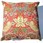 "William Morris strawberry thief filled cushion 18"" square complete with pad"
