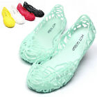 Womens Jelly Ballet Flats Hollow Nest Cutout Low Sandals Summer Breathable Shoes