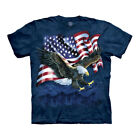 The Mountain Eagle Talon USA Flag Adult Unisex T-Shirt image