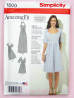 Simplicity 1800 Sewing Pattern Teens & Ladies Amazing Fit Dress Inc. Plus Size