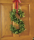 17 MONOGRAM DOOR HANGER FAUX GREENERY HANGING INITIAL WREATH INDOOR OUTDOOR
