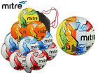 10 x NEW 2017 MITRE IMPEL + SACK SIZE 3,4,5 ORANGE-WHITE/BLUE-WHITE/RED RRP-£100
