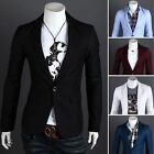 Fashion Stylish Men\'s Casual Slim Fit One Button Suit Blazer Coat Jacket Tops