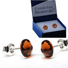 925 STERLING SILVER STUD SPARKLING EARRINGS CRYSTAL 7mm CRYSTALS FROM SWAROVSKI®