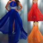 Sexy Long Chiffon Formal Bridesmaid Dress Party Gown Cocktail Prom Evening Dress