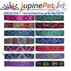 """LUPINE DOG COLLAR 1"""" 12-20"""" Patterened Dog Collar CHEW PROOF Made USA"""