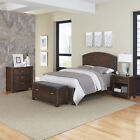 Crescent Hill Bed, Night Stand, Upholstered Bench, and Chest
