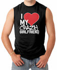 I Love My Crazy Girlfriend - Couple Heart Funny V-Day Men's SLEEVELESS T-shirt