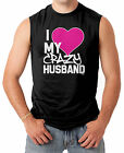 I Love My Crazy Husband - Couple Heart Funny V-Day Men's SLEEVELESS T-shirt