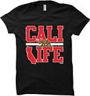 Cali Life - California Republic Bear State Pride Map Womens T-shirt