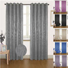 """SEVILLE"" DIMOUT BLACKOUT EYELET READY MADE CURTAINS RING TOP THERMAL"