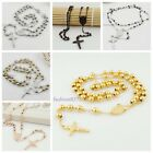 4/6/8mm color for choose stainless steel men/women's rosary chain necklace sale