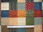 Patchwork cheater traditional pastel cotton quilting fabric *Choose design size