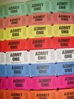 "**SINGLE ROW ''ADMIT ONE"" CONSECTIVELY NUMBERED RAFFLE TICKETS"