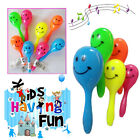Mini Smiley Maracas Kids Party Bag Filler Toy Rattle Shaker Fun Plastic Play Toy