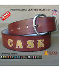 Custom Tooled Leather Belts - M.Brown Leather Belts - Personalized Western Belts