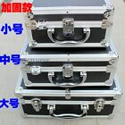 Aluminium Frame Tool Box Case Storage File Paper Lock Suitcase Hand Carry Black
