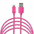 Woven Fabric Braided USB Data Sync Cable charger FOR iphone X 8 7 6 5S FOR nano