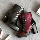 NEW Gorgeous Womens Cow Leather High Heels Boots Sz 2.5-9(P116095)
