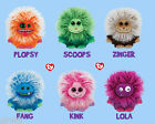 "TY FRIZZYS 6"" Inch Soft Toy Plush 5 Designs Fang Plopsy Kink Scoops Zinger ty"