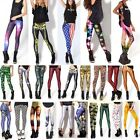 Women's 3D Graphic Printed Skinny Leggings Stretchy Jeggings Pencil Tight Pants