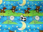 100% COTTON HEY DIDDLE DIDDLE FABRIC CHILDRENS PYO SIZE FREE P&P UK