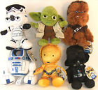 "BRAND NEW DISNEY STAR WARS 6"" PLUSH - CHOOSE YOUR DESIGN - YODA, R2-D2, CHEWY"